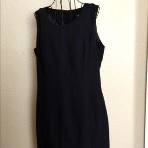 Sag Harbor Midi Sleeveless Lined  Dress 14 Black